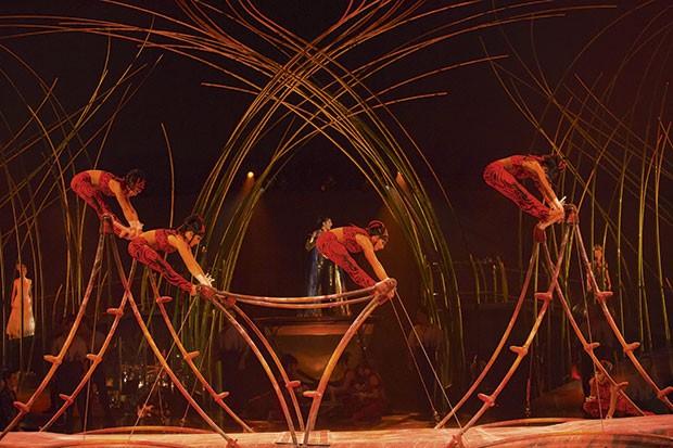 Artistas em Cena de Amaluna (Foto: Divulgação)