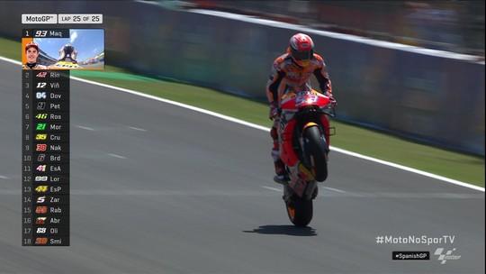 Marc Marquez vence corrida da Moto GP na Espanha