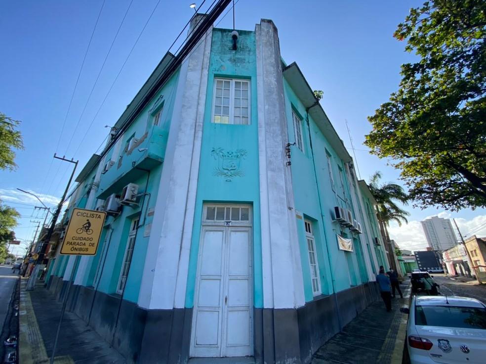 Sede do Itep, Instituto Técnico-Científico de Perícia, na Ribeira, em Natal — Foto: Kleber Teixeira/Inter TV Cabugi