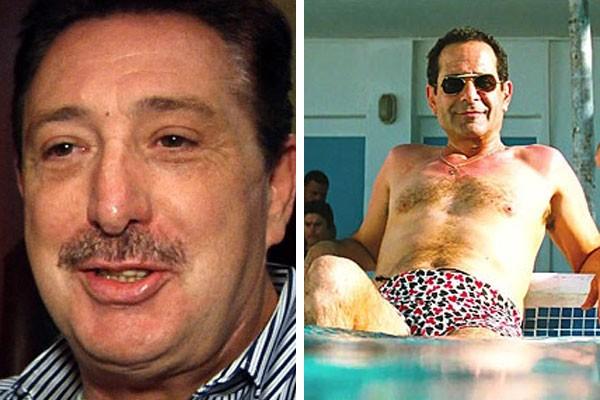Marc Schiller e sua versão cinematográfica interpretada por Tony Shalhoub (com nome fictício) (Foto: Getty Images/Reprodução)