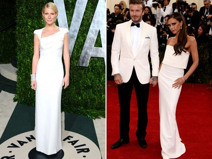 Gwyneth Paltrow e Victoria Beckham, as minimalistas