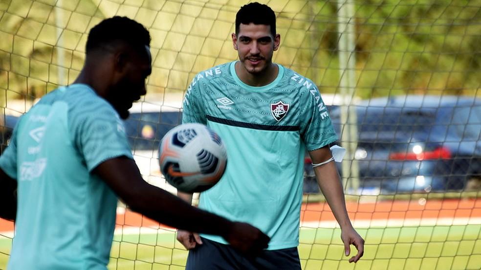 Nino em treino do Fluminense — Foto: Mailson Santana / Fluminense FC