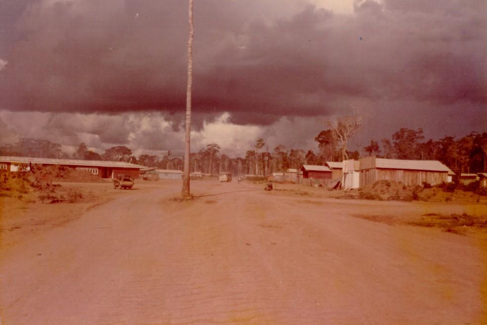 Antiga Avenida Jamari em Ariquemes (Foto: Incra/Divulgação)