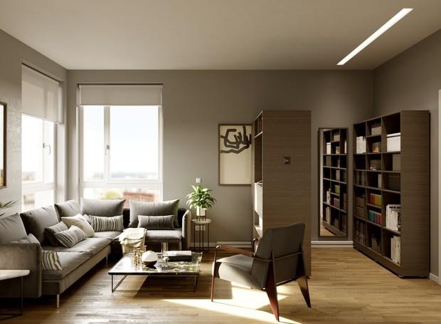 O Pocket Closet pode ser instalado em salas (Foto: Ori Living/ Reprodução)