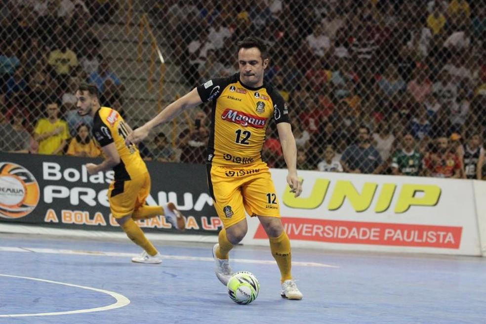 Falcão deixou sua marca na última partida atuando em casa pelo Sorocaba  — Foto: Guilherme Mansueto/Magnus Futsal