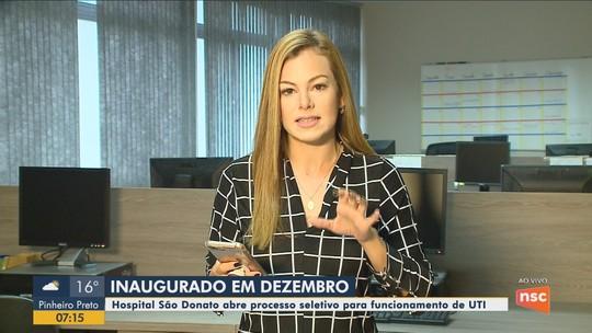 Hospital São Donato, em Içara, abre processo seletivo com 30 vagas para iniciar funcionamento de UTI