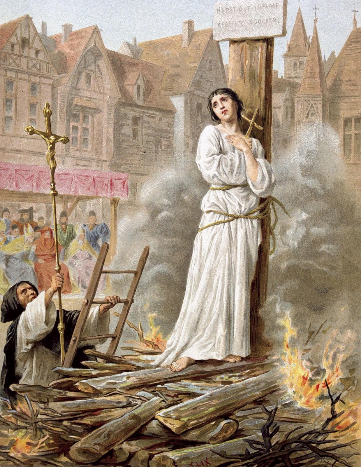 Joana D'Arc na estaca (1830-1897), Frederic Theodore Lix  (Foto: Reprodução)