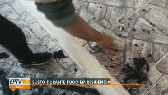 Incêndio atinge casa após celular pegar fogo em Monte Mor; vídeo