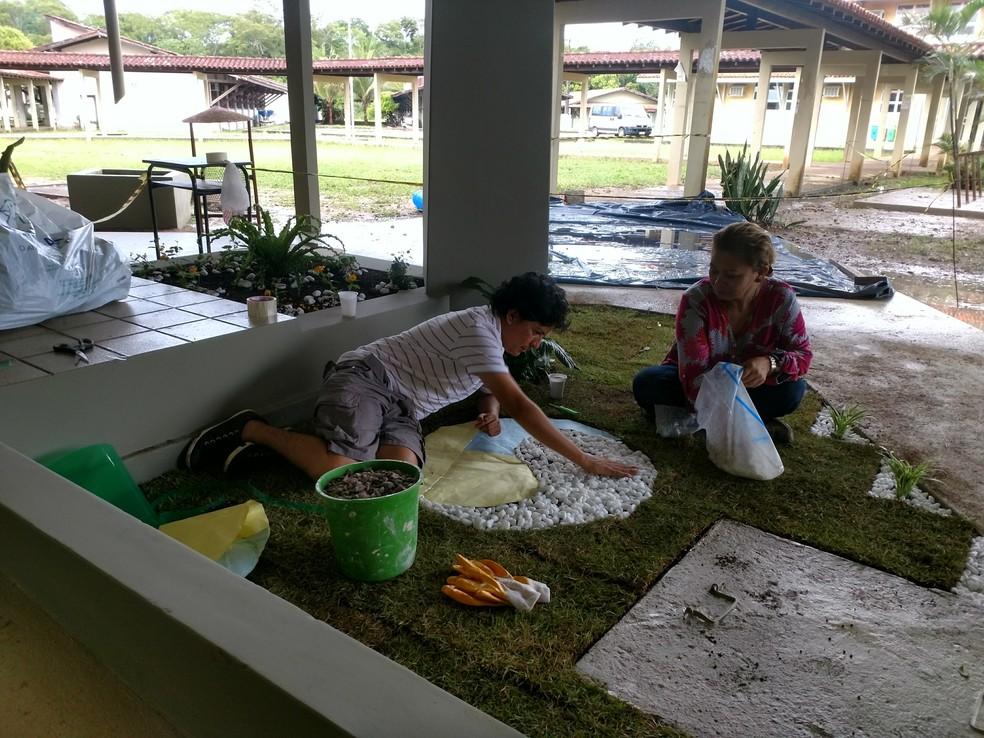 Área de vivência em frente à Biblioteca Central da Unifap será inaugurada no dia 18 de outubro — Foto: Unifap/Divulgação