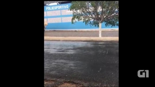 Moradores registram chuva de granizo no Sul do Piauí; veja vídeo