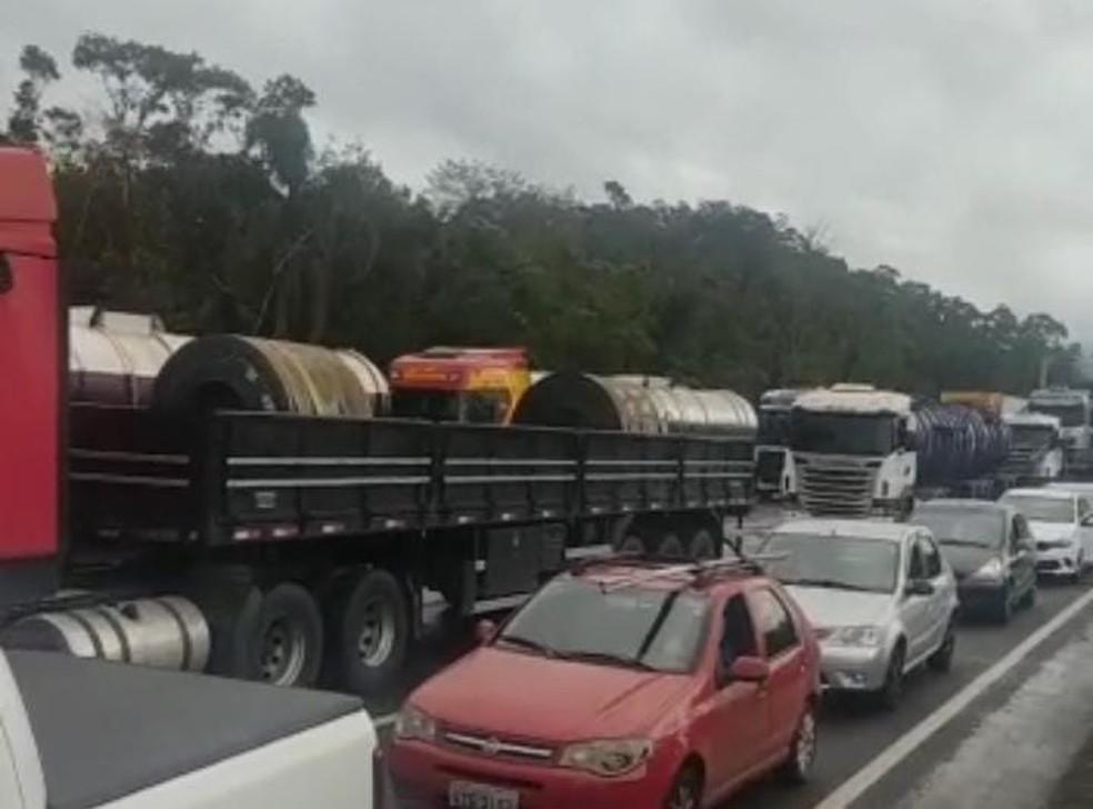 Garuva (SC) às 10h30 desta quarta-feira (8) — Foto: Anderson Pereira/Divulgação