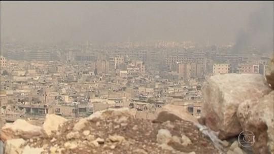 Exército sírio suspende combate no Leste de Aleppo