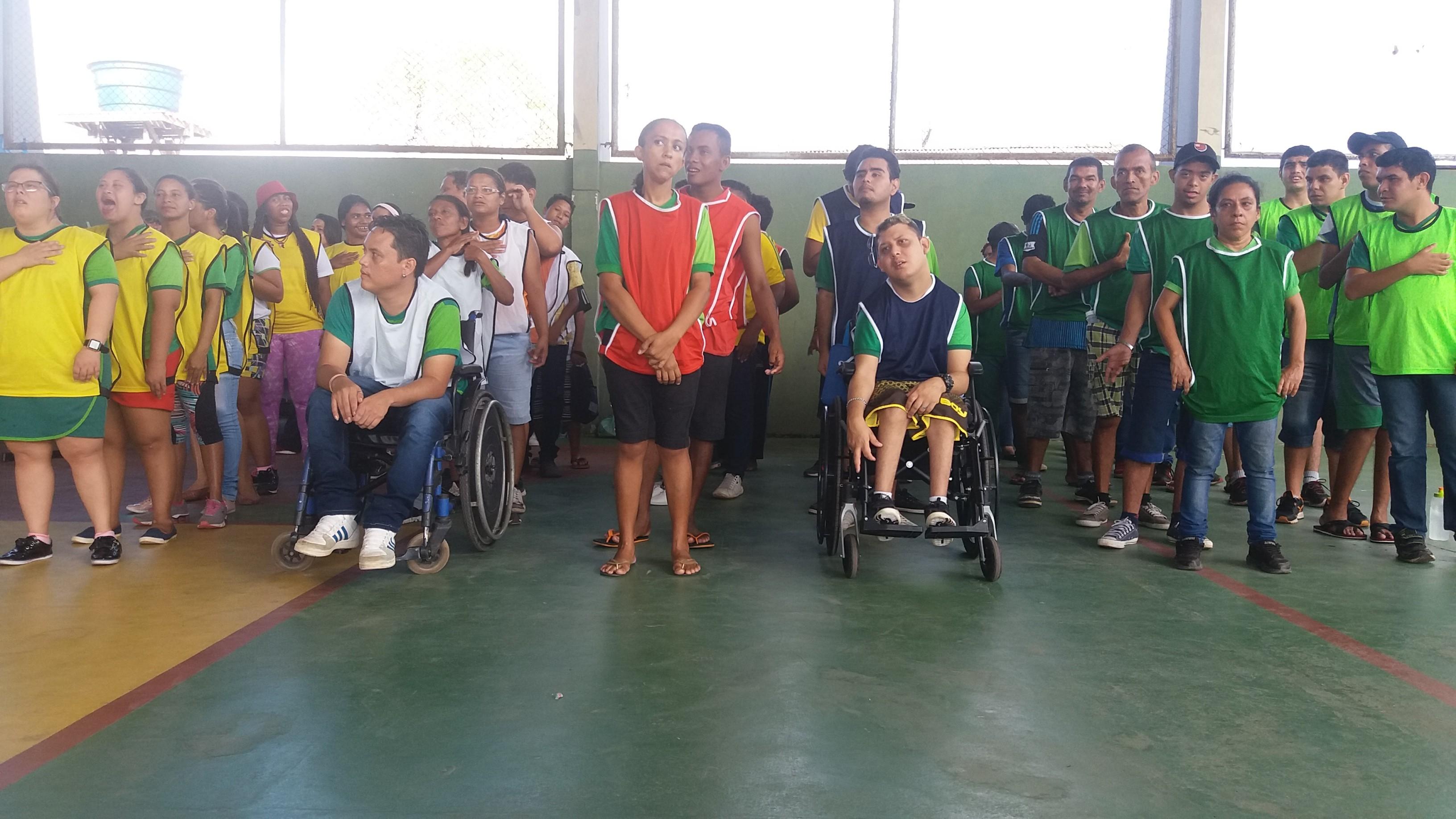 Estudantes com deficiência no AP disputam 'Olimpíada' com mais de dez modalidades
