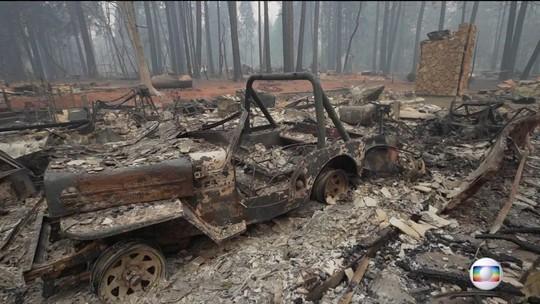 JN mostra o que restou da cidade mais atingida pelos incêndios na Califórnia