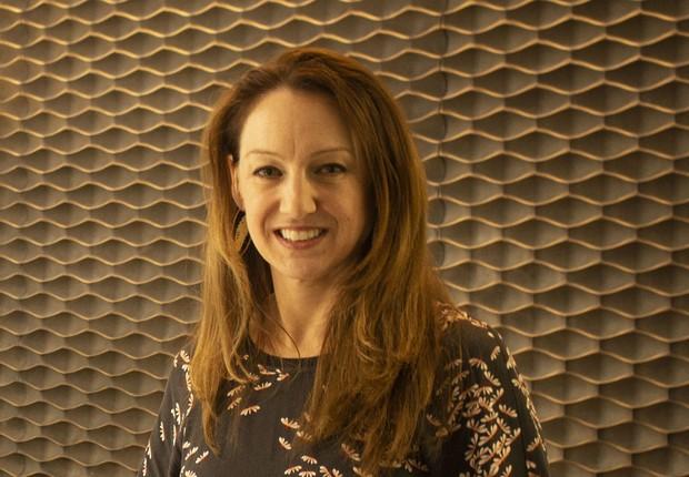 Rosie Hawkins, chefe global e diretora do departamento de inovação e insights da Kantar, em visita ao Brasil (Foto: Divulgação)