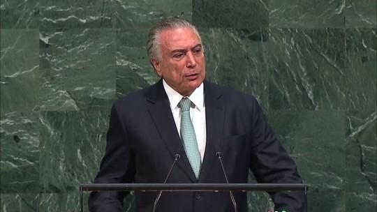 Reformas farão do Brasil um 'país mais aberto', diz Temer na ONU