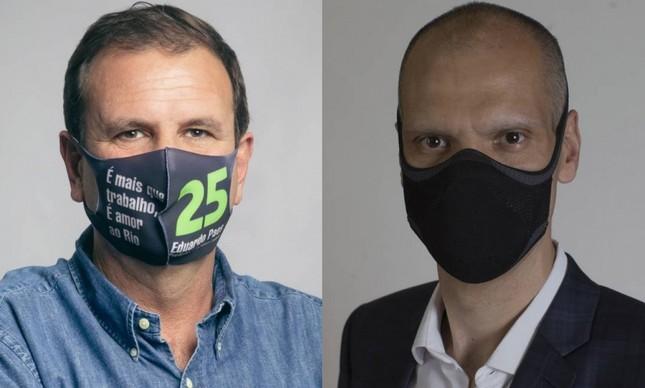 Eduardo Paes (DEM) e Bruno Covas (PSDB), candidatos às prefeituras de Rio e São Paulo