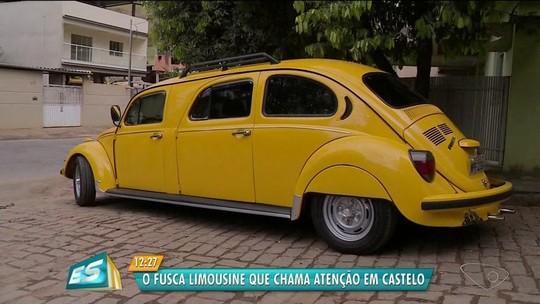 Lanterneiro transforma fusca em 'limousine' em Castelo, ES