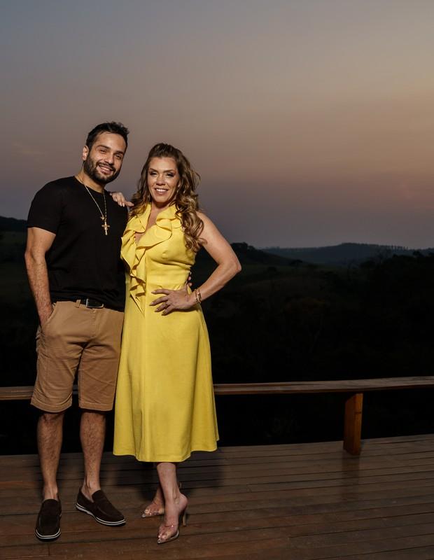 Simony e Felipe Rodriguez: sintonia em viagem ao interior de SP (Foto: Marcos Mesquita )