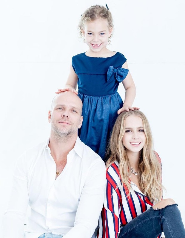 Fernando Scherer com as filhas, Isa Scherer e Brenda (Foto: Reprodução/Instagram)