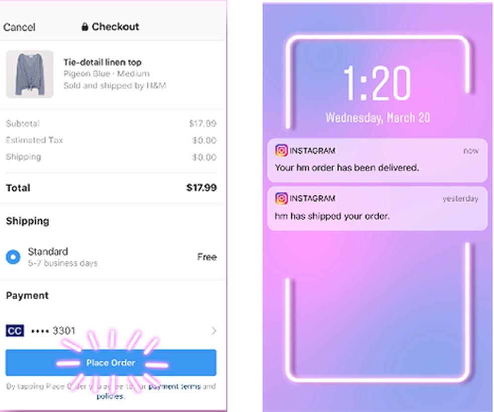 Instagram ganha função de compra dentro do aplicativo — Foto: Divulgação/Instagram