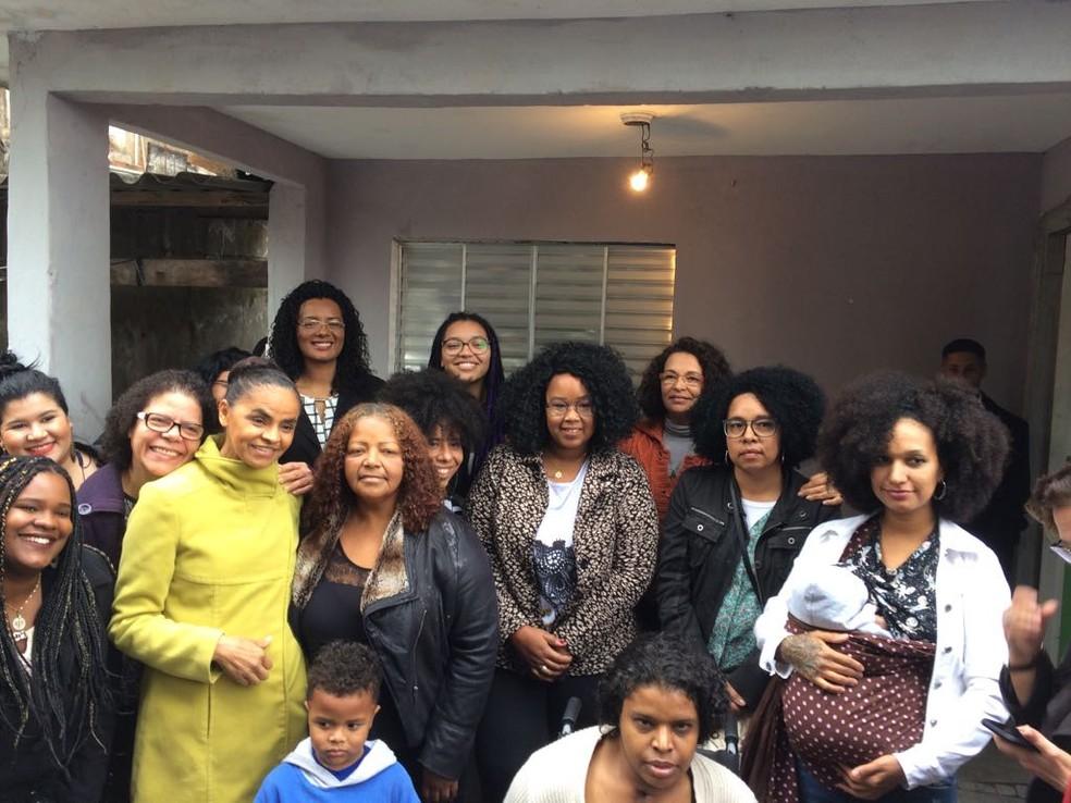 Marina Silva se reuniu neste domingo com moradoras do bairro do Capão Redondo, na zona sul de São Paulo (Foto: Renato Biazzi/TV Globo)