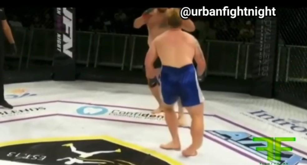 Randall Ray Dean Maxwell UFC 24 fratura tornozelo — Foto: Reprodução / YouTube
