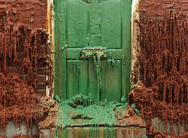 """""""Um quilo de carne por 50p"""", casa derretida que fica em Londres (Foto: Divulgação)"""