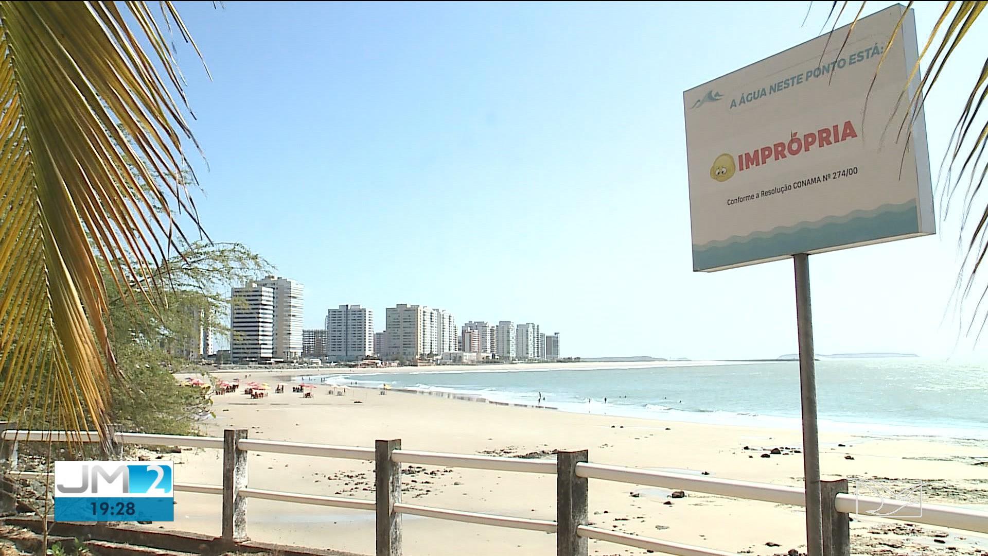 Pela 13° semana consecutiva, praias da Grande São Luís continuam impróprias para banho