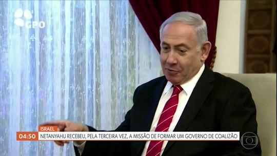 Netanyahu recebe a missão de formar um governo de coalizão em Israel