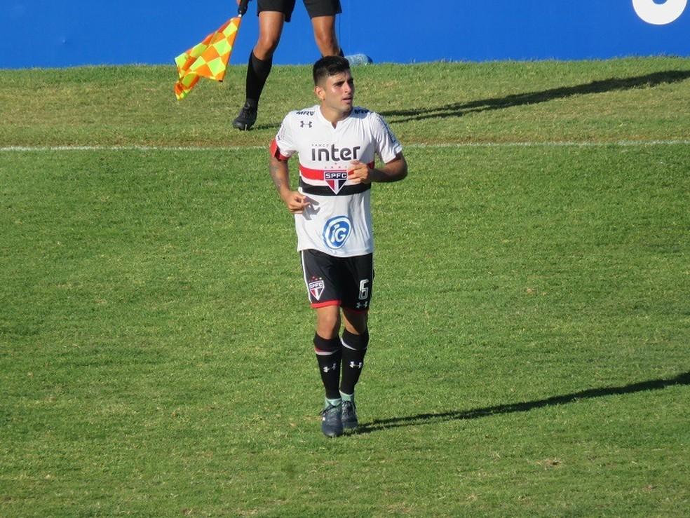 Liziero fez o gol do São Paulo no empate por 1 a 1 (Foto: Felipe Schmidt)