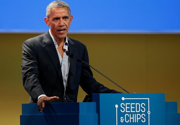 Barack Obama fala em evento na Itália (Foto: Alessandro Garofalo/Reuters)