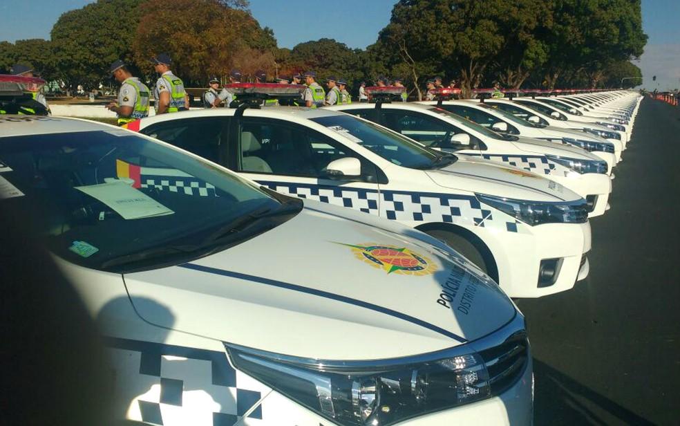 GDF entrega 145 novas viaturas à Polícia Militar (Foto: Elielton Lopes/G1)