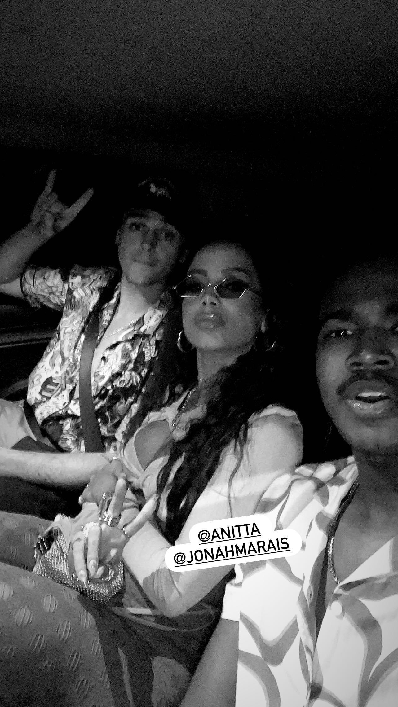 Jonah Marais, Anitta e CJ Cook (Foto: Reprodução/Instagram)