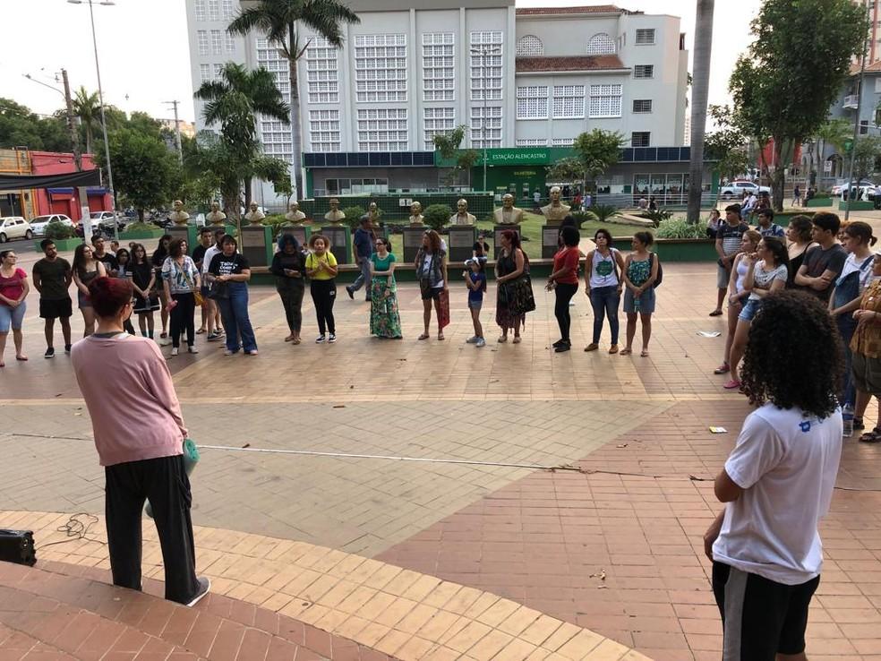 Cuiabá registra ato em defesa da Amazônia — Foto: Eunice Ramos/TV Centro América