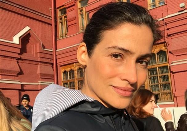 Renata Vasconcellos na Rússia (Foto: Reprodução)