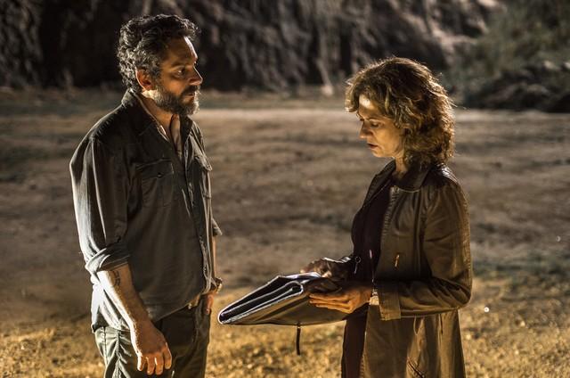 Alexandre Nero e Patricia Pillar em 'Onde nascem os fortes' (Foto: Estevam Avellar/TV Globo )