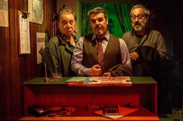 Tony Ramos, Cassio Gabus Mendes e Ary França no filme '45 do segundo tempo' (Foto: Cacá Bernardes)
