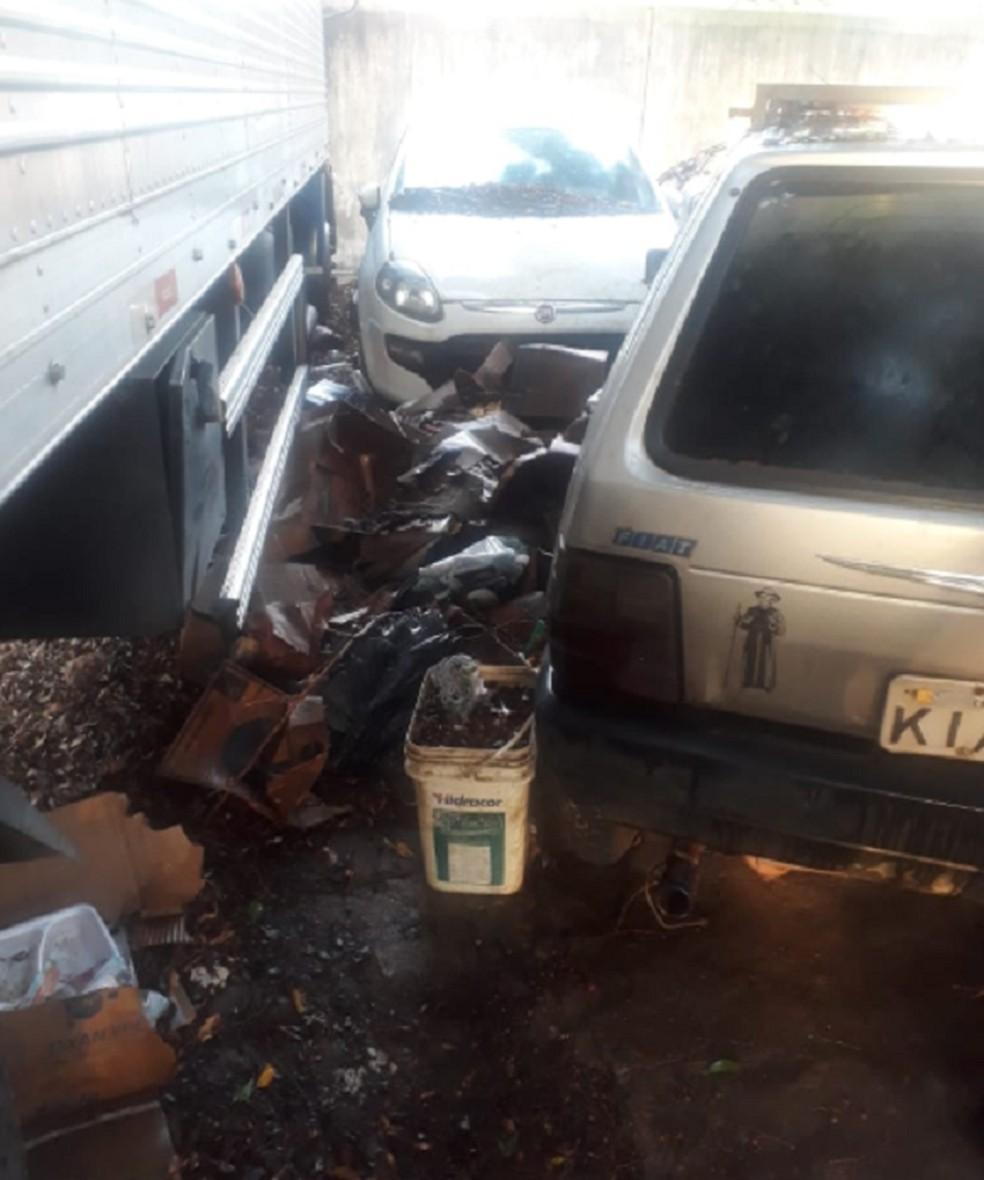 Ataques contra prédios públicos em Juazeiro do Norte. — Foto: Reprodução/TV Verdes Mares