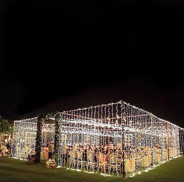 Gaiola de luz em casamento (Foto: Pinterest/Reprodução)