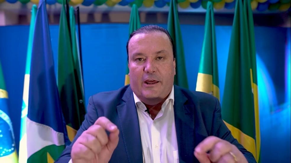 Empresário Reinaldo Morais (PSC) foi lançado como candidato ao Senado por Mato Grosso — Foto: Divulgação