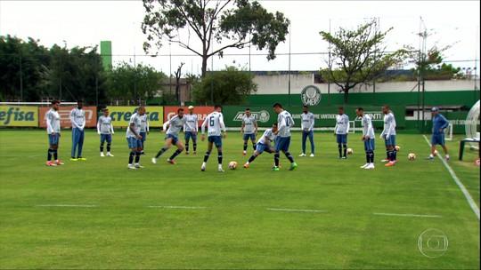 Veja a preparação do Palmeiras para a partida contra o Colo Colo