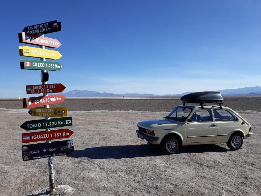 Salinas Grandes em Jujuy, na Argentina — Foto: Arquivo pessoal/Alberto Carlos Fröhlich