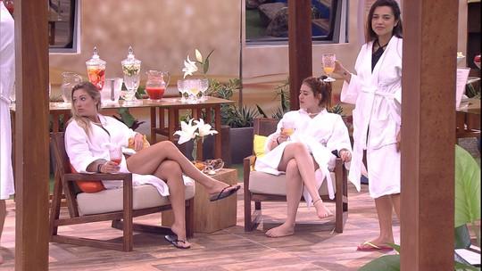 Ana Clara brinca com brothers: 'Esse spa já foi mais bem frequentado'