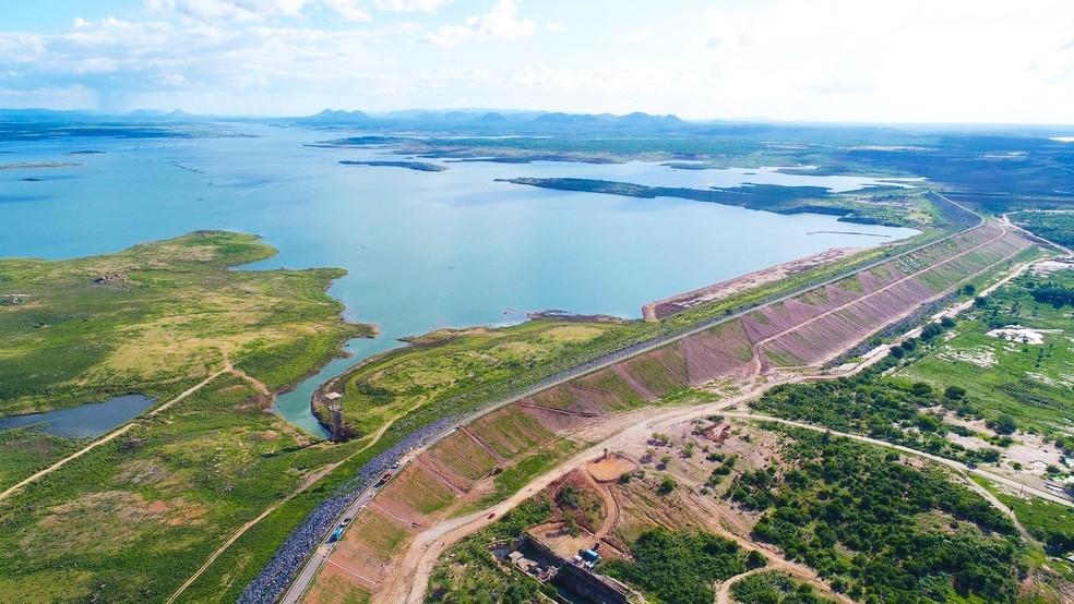 Barragem Armando Ribeiro Gonçalves, maior reservatório do RN — Foto: Bruno Andrade