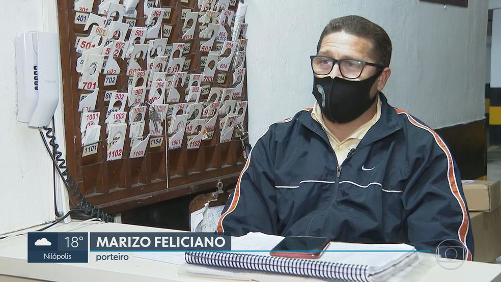 Porteiro Marizo Feliciano perdeu as economias ao cair num golpe na internet  — Foto: Reprodução/TV Globo