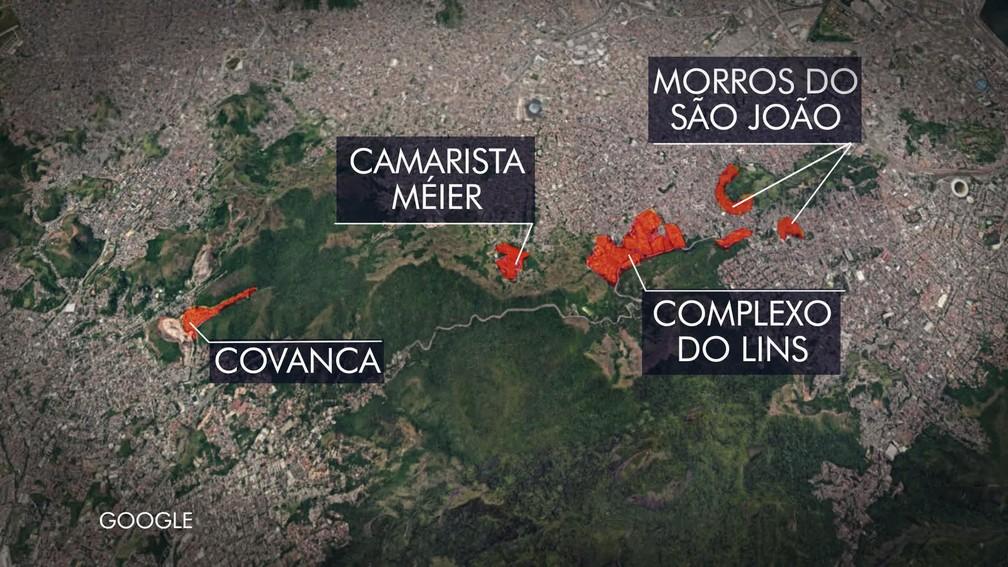 Operação Onerat divide ações em pelo menos quatro pontos do Rio (Foto: Reprodução/Globo)