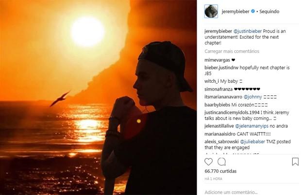 Post de Jeremy Bieber, pai de Justin Bieber (Foto: Reprodução / Instagram)