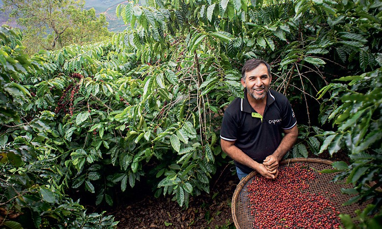 Emílio Horst, produtor de café de Iúna, no sul do Espírito Santo (Foto: Emiliano Capozoli)