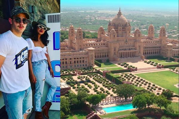 O palácio indiano no qual será realizado o casamento de Nick Jonas e Priyanka Chopra (Foto:  Instagram/Divulgação)
